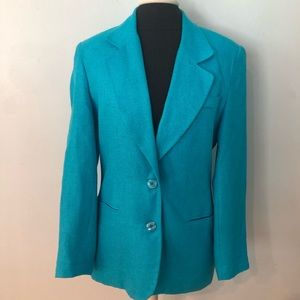 Vintage Jacobson's Bright Blue Linen Blend Blazer